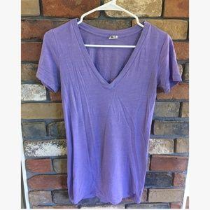 Victoria's Secret PINK Short Sleeve Purple T-Shirt